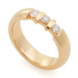 Обручальное кольцо с бриллиантами, артикул R-10030-3