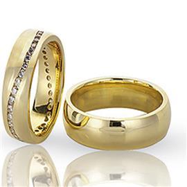 Классические обручальные кольца парные, артикул R-ТС 3116-1
