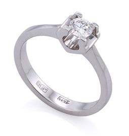 Помолвочное с 1 бриллиантом 0,50 ct 2/4 белое золото 585° сертификат GIA, артикул R-ЯК045