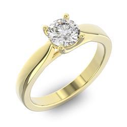 Помолвочное кольцо 1 бриллиантом 0,70 ct 4/5 из желтого золота 585°, артикул R-D38231-1