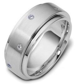Обручальное кольцо с бриллиантами из золота 585 пробы, артикул R-1768/001