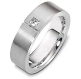 Кольцо обручальное с бриллиантом из золота с бриллиантом, артикул R-2439/001