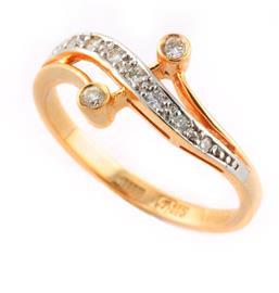Кольцо с бриллиантами, артикул R-KL0072