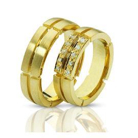"""Обручальные кольца парные из золота 585 пробы серии """"Twin set"""", артикул R-ТС 1600"""