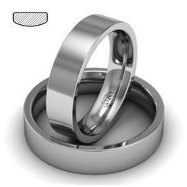 Обручальное кольцо из платины, ширина 5 мм, комфортная посадка, артикул R-W759Pt