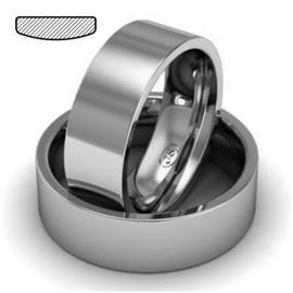 Обручальное кольцо из платины, ширина 7 мм, комфортная посадка, артикул R-W779Pt