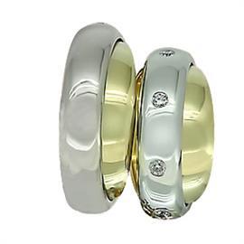 Обручальные кольца  эксклюзивные с бриллиантами из золота 585 пробы, артикул R-ТС L1914