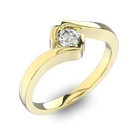 Помолвочное кольцо 1 бриллиантом 0,34 ct 4/5 из желтого золота 585°, артикул R-D40648-1