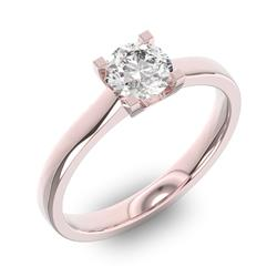 Помолвочное кольцо 1 бриллиантом 0,65 ct 4/5 из розового золота 585°, артикул R-D37664-3