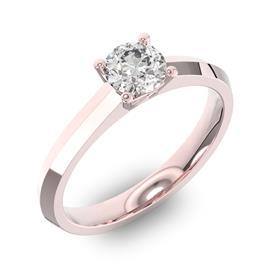 Помолвочное кольцо 1 бриллиантом 0,5 ct 4/5 из розового золота 585°, артикул R-D35995-3