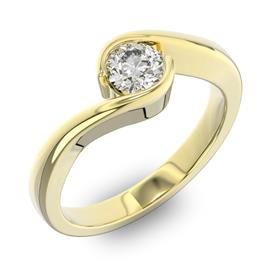 Помолвочное кольцо 1 бриллиантом 0,5 ct 4/5 из желтого золота 585°, артикул R-D38248-1