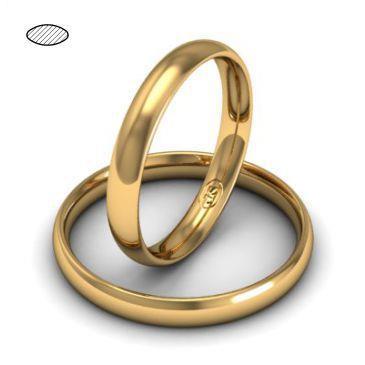 Обручальное кольцо из розового золота, ширина 3 мм, комфортная посадка, артикул R-W635R