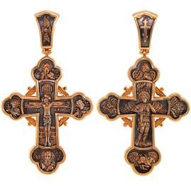 Православный крест Распятие с предстоящими. Архангел Михаил, артикул R-КС3067-3