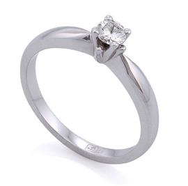 """Помолвочное кольцо  """"Хрустальная капель"""" из белого золота 585 пробы с 1 бриллиантом 0,26 карат, артикул R-ЯК 041"""