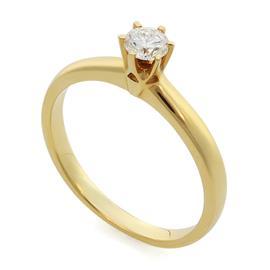 Помолвочное кольцо с 1 бриллиантом 0,30 ct 4/5 желтое золото, артикул R-YZ42354 -1