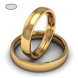 Облегающее обручальное кольцо  из розового золота, артикул R-1201-3