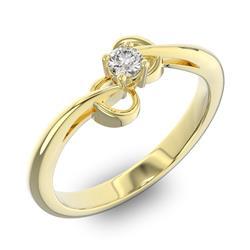 Помолвочное кольцо 1 бриллиантом 0,13 ct 4/5 из желтого золота 585°, артикул R-D40445-1