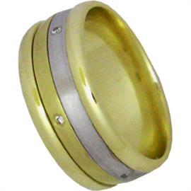 """Обручальное кольцо с бриллиантами из золота 585 пробы, серия """"Diamond"""", артикул R-1310"""