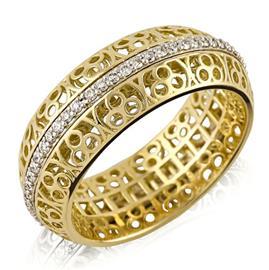 Кольцо из золота 750 пробы с 58 бриллиантами 0,40 карат, артикул R-ИМ 109