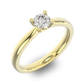 Помолвочное кольцо 1 бриллиантом 0,39 ct 4/5 из желтого золота 585°, артикул R-D36766-1