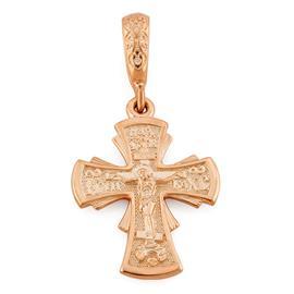 Нательный православный крестик с Распятием Господа нашего Иисуса Христа, артикул R-КРЗ005-3