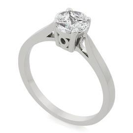 Помолвочное кольцо с 5 бриллиантами 0,40 ct 3/4  белое золото 750° , артикул R-DRN14712-001