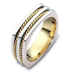 Эксклюзивное обручальное кольцо из золота 585 пробы, артикул R-A2558