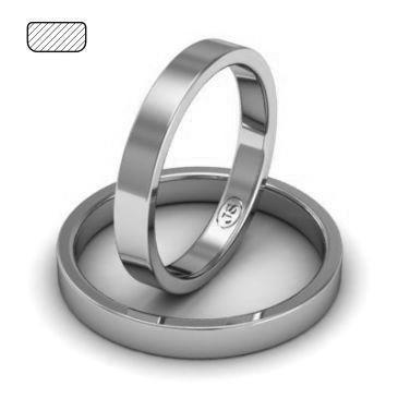 6d62d7b4062c Обручальное кольцо из платины, ширина 3 мм