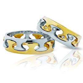 Дизайнерские обручальные кольца «PAZZLE», артикул R-ТС 3329