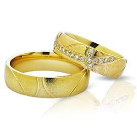 """Обручальные кольца парные из золота 585 пробы серии """"Twin Set"""", артикул R-ТС 3373"""