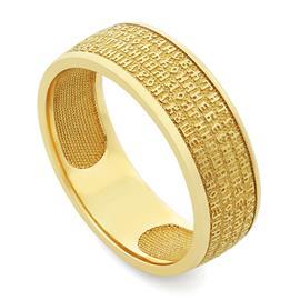 Православное кольцо с молитвой из желтого золота 585 пробы, артикул R-KLZ0302-1