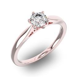 Помолвочное кольцо 1 бриллиантом 0,55 ct 4/5 из розового золота 585°, артикул R-D32270-3