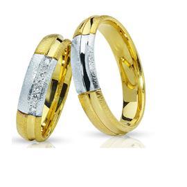 """Обручальные кольца парные с бриллиантами серии """"Twin Set"""", артикул R-ТС 016"""