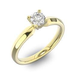 Помолвочное кольцо 1 бриллиантом 0,5 ct 4/5 из желтого золота 585°, артикул R-D42635-1