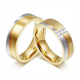 Обручальные кольца парные с бриллиантами из золота 585 пробы, артикул R-ТС AL2315-12