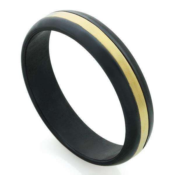2506d6682193 Обручальное кольцо из титана со вставкой из золота, артикул R-Т8020