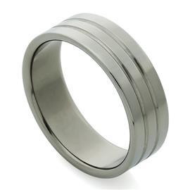 Обручальное кольцо из титана, артикул R-Т1043