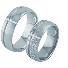 Обручальные кольца с бриллиантами из золота, артикул R-ТС 3403