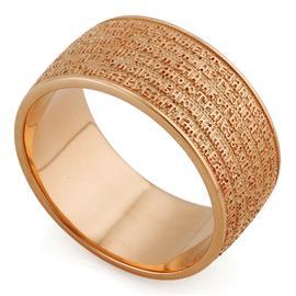 Православное кольцо с молитвой из розового золота 585 пробы, артикул R-KLZ0201-3
