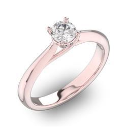 Помолвочное кольцо 1 бриллиантом 0,34 ct 4/5 из розового золота 585°, артикул R-D31518-3