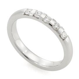 Обручальное кольцо с 5 бриллиантами 0,25 карат, артикул R-1672-2