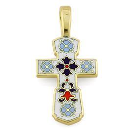 Крестик нательный православный  Голгофский, артикул R-КРЗЭ001-1
