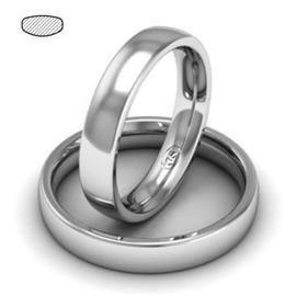 Облегающее обручальное кольцо  из белого золота, артикул R-1201-2