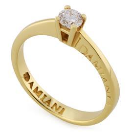 Помолвочное кольцо из желтого золота 585 пробы с 1 бриллиантом 0,22 карат, артикул R-НП D8