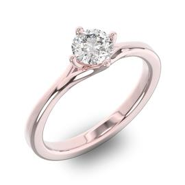 Помолвочное кольцо 1 бриллиантом 0,50 ct 4/5 из розового золота 585°, артикул R-D36646-3