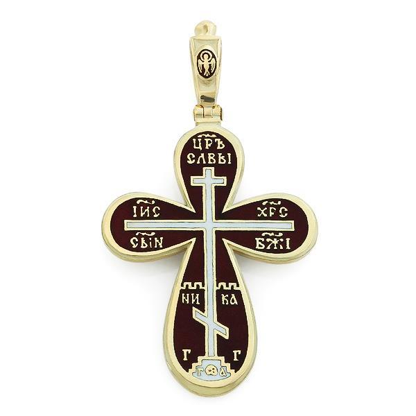 Крест православный с надписями Иисус Христос, Царь Славы, Спаси и сохрани, артикул R-РКб1606-1