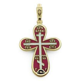 Крест православный с надписями Иисус Христос, Царь Славы, Спаси и сохрани, артикул R-РКр1606-1