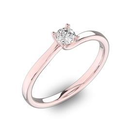 Помолвочное кольцо 1 бриллиантом 0,3 ct 4/5 из розового золота 585°, артикул R-D40880-3