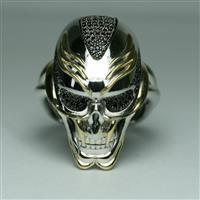 Кольцо из серебра 925° пробы с позолотой