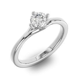 Помолвочное кольцо 1 бриллиантом 0,50 ct 4/5 из белого золота 585°, артикул R-D36646-2